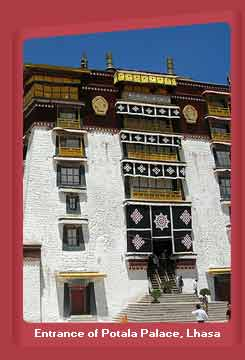 Entrance of Potala Palace, Lhasa