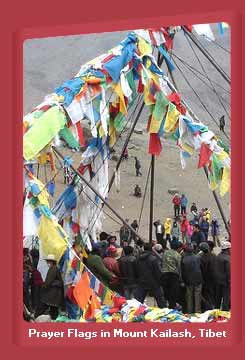 Prayer Flags in Mount Kailash, Tibet