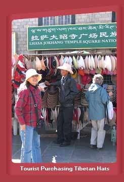 Tourists at Jokhand Hat, Lhasa, Tibet